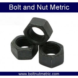Black zinc plated hex nut